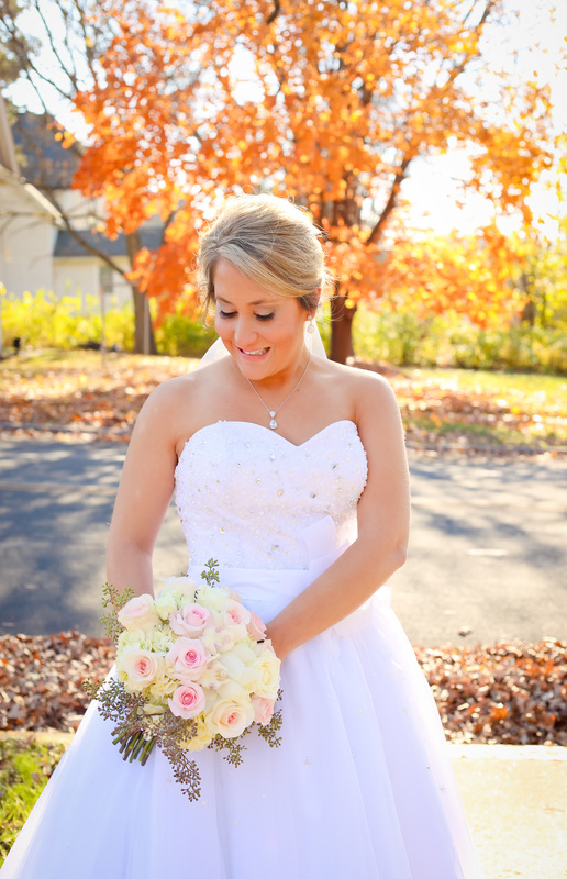 Bridal Portraits Tartan Park Lake Elmo Fall Wedding Photographer