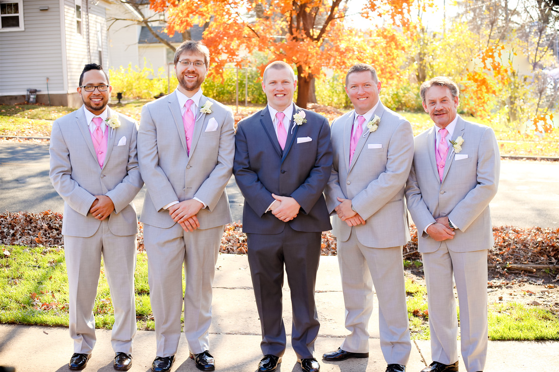Tartan Park Lake Elmo Fall Wedding Photographer Groomsmen