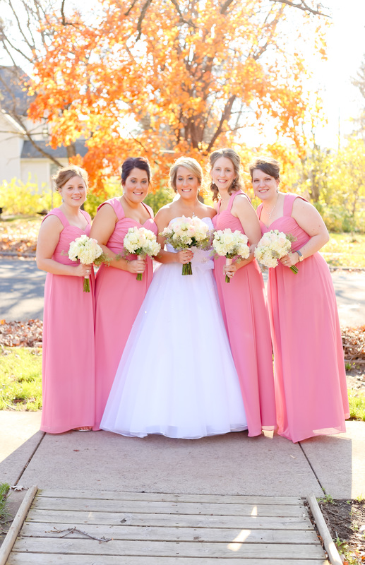 Tartan Park Lake Elmo Fall Wedding Photographer Bridesmaids