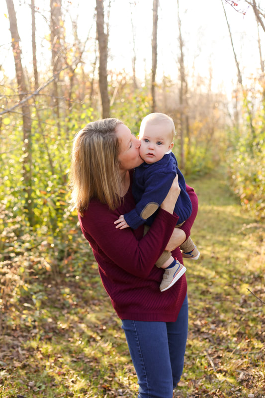 Mom and son, Franklin, WI family portrait session in the fall, rustic outdoor session, by Kelsey Jorissen Photography
