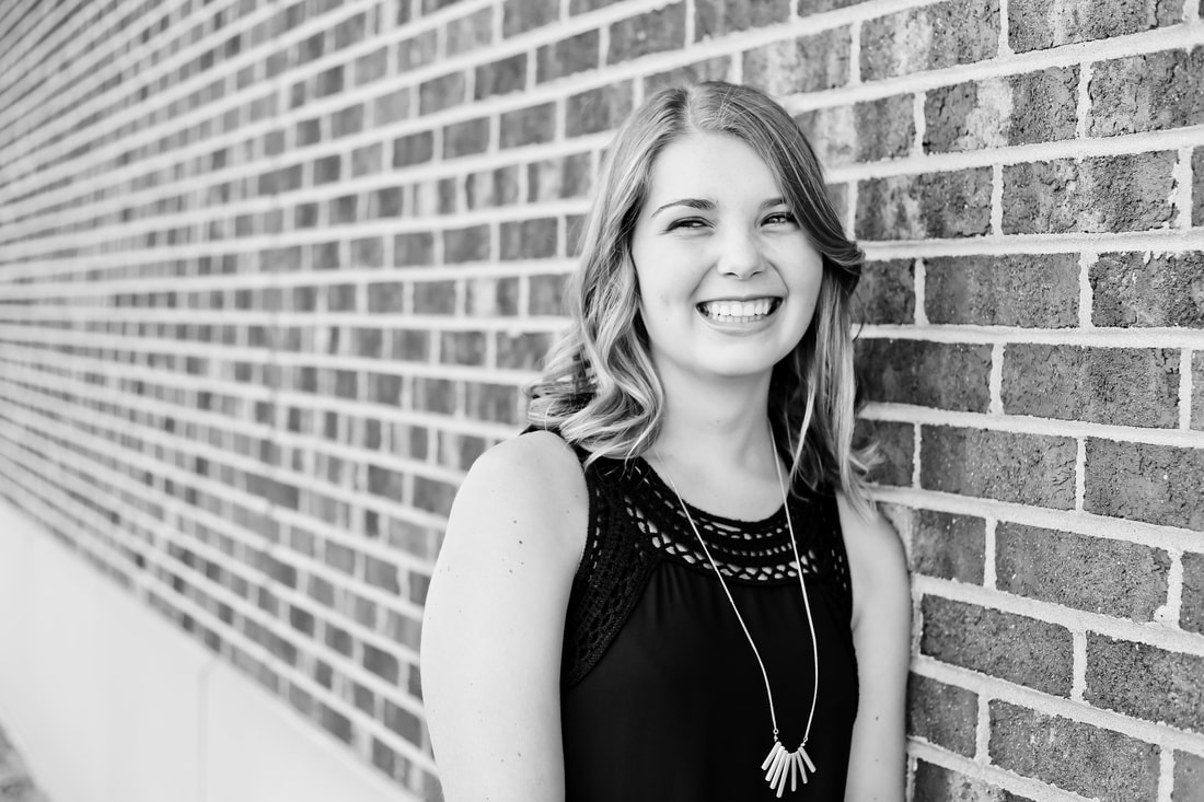 Gorgeous candid black and white photograph, Rustic outdoor senior portrait session in Muskego, WI by Kelsey Jorissen Photography