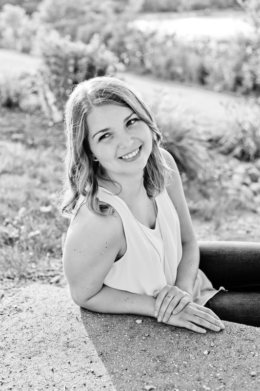 Beautiful candid black and white photograph, Rustic outdoor senior portrait session in Muskego, WI by Kelsey Jorissen Photography