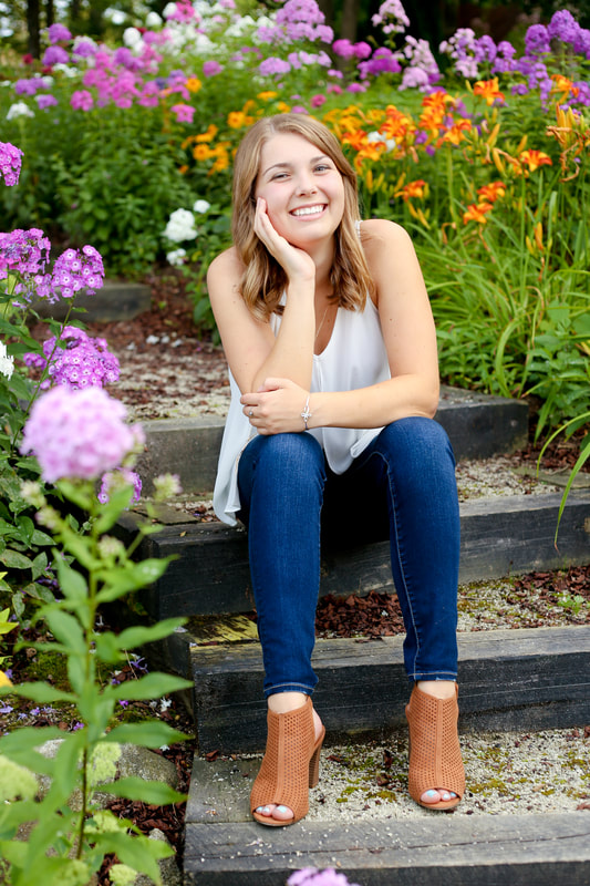Wildflowers galore, Rustic outdoor senior portrait session in Muskego, WI by Kelsey Jorissen Photography