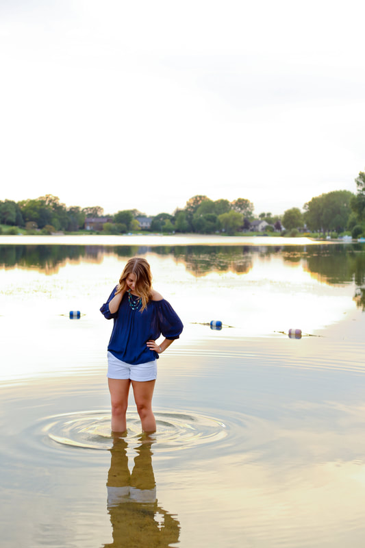 Swimmer themed senior portraits, Rustic outdoor senior portrait session in Muskego, WI by Kelsey Jorissen Photography