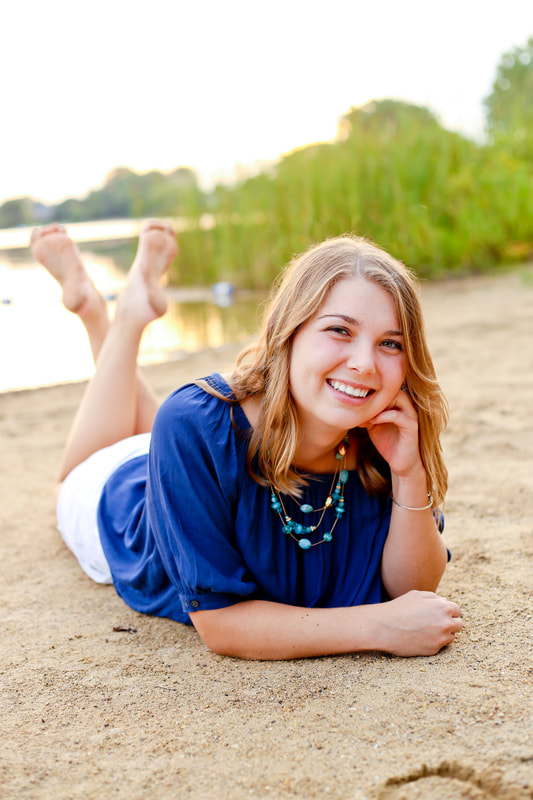 On the beach, Rustic outdoor senior portrait session in Muskego, WI by Kelsey Jorissen Photography