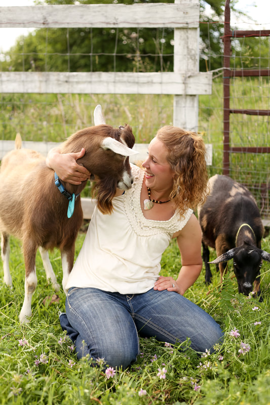 goat and farmer portraits on the farm in Sussex, WI by Kelsey Jorissen Photography