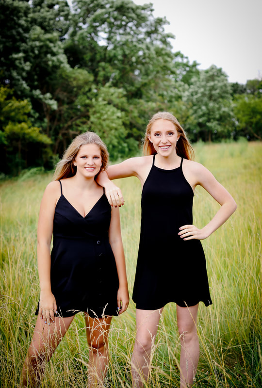 Creative dance team portraits with a more rustic feel in an open field, by Kelsey Jorissen Photography